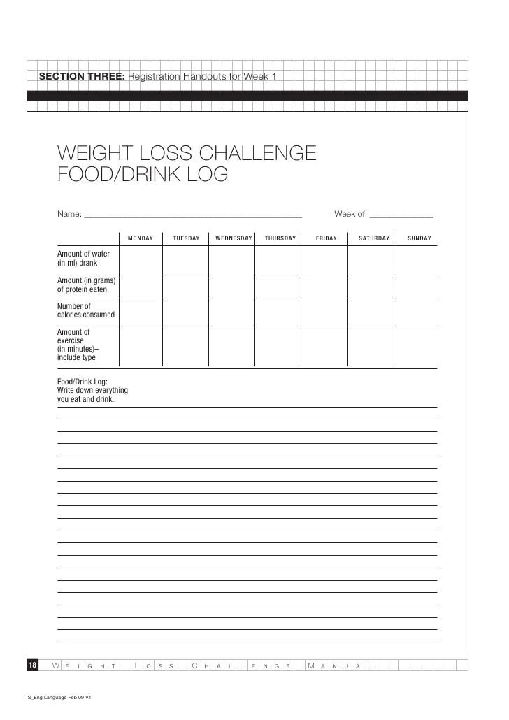 weight loss challenge manual