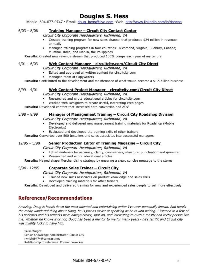 resume writers richmond virginia award winning ceo sample resume