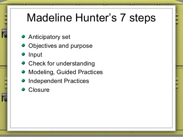Sample Madeline Hunter Lesson Plan Template - 7+ Free Documents In