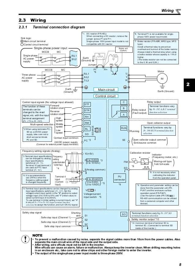 mitsubishi d700 wiring diagram