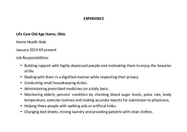 health aide parse resume example parse resume example papershark co - Home Health Aide Resume Sample