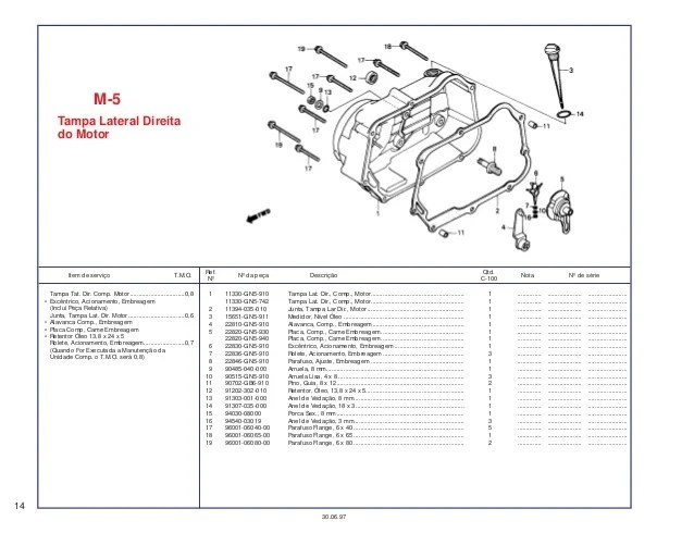 honda dream 100 parts manual