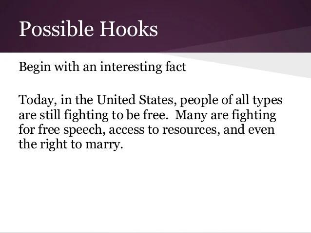 Hook Topic Sentences Catch