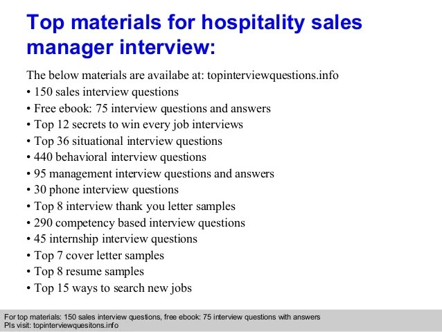 Hospitality Interview Questions cvfreepro