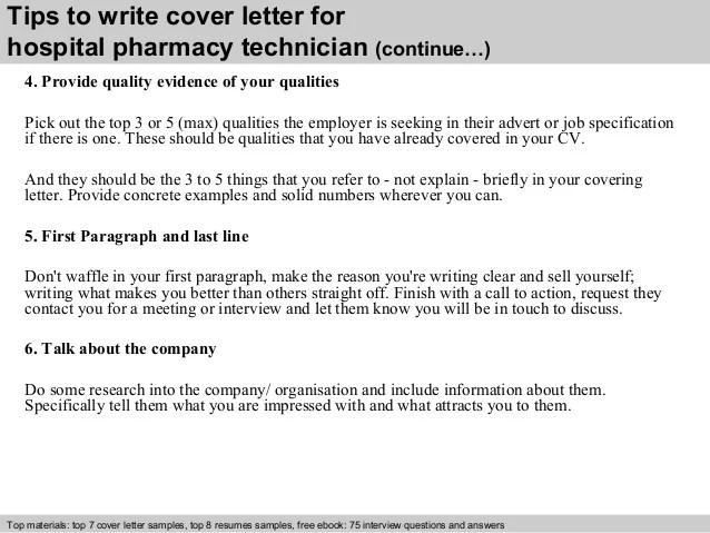 hospital pharmacy cover letter - Goalgoodwinmetals - cover letter pharmacy technician