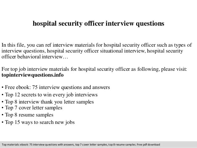 hospital security resume - Baskanidai - sample security resume cover letter