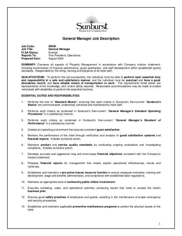 general manager duties - Josemulinohouse - printing company general manager resume