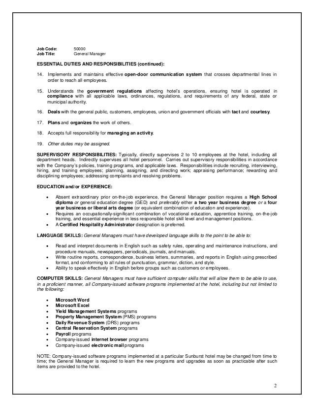 Business Plan Development Job Description – Business Manager Job Description
