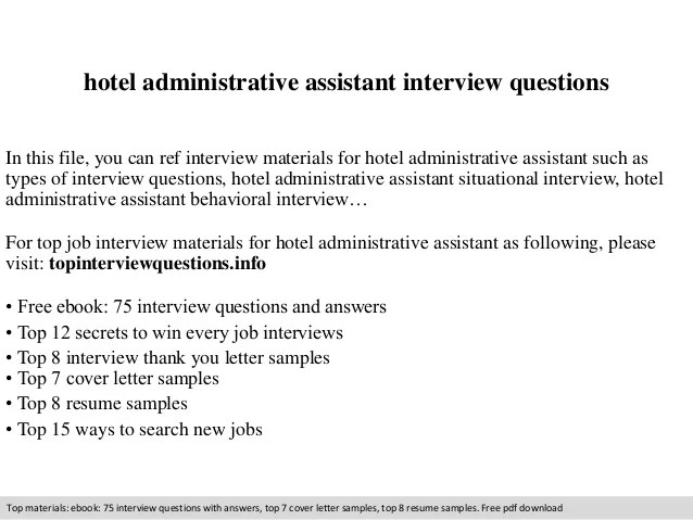 interview questions and answers for office assistant - Dorit
