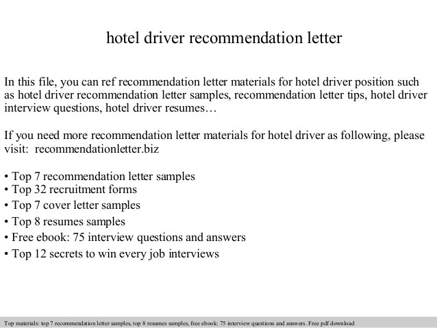 How To Write A Letter Of Recommendation 14 Steps With Hotel Driver Recommendation Letter