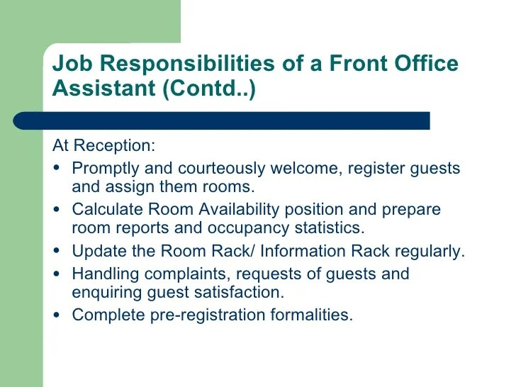 office assistant responsibilities - Roho4senses