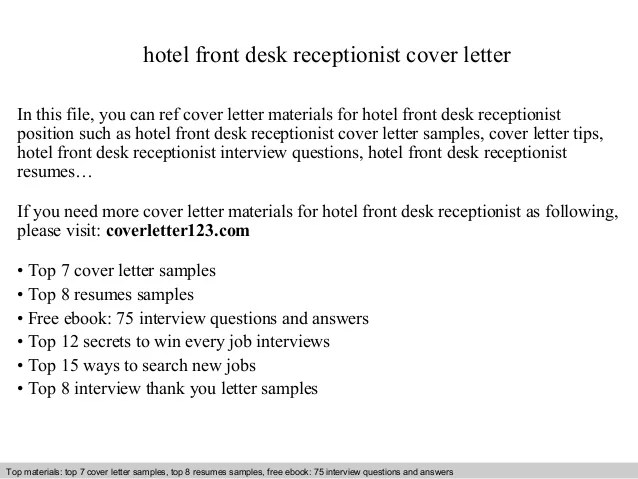 Accountant Cover Letter Example Sample Hotel Front Desk Receptionist Cover Letter
