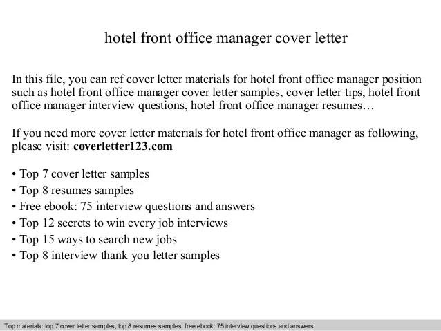 sample hotel front office manager - Josemulinohouse - office manager resumes