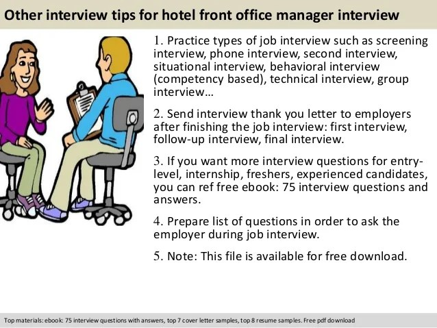 front office manager resume cover letter
