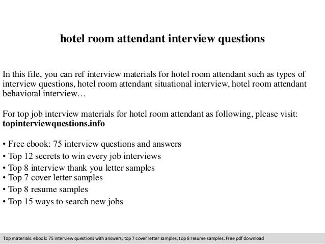resume for room attendant - Onwebioinnovate