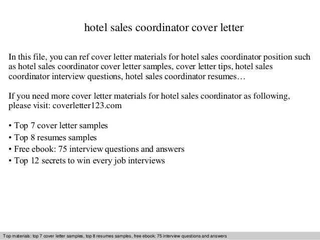 cover letter for hotel sales coordinator - Goalgoodwinmetals - powerschool administrator sample resume