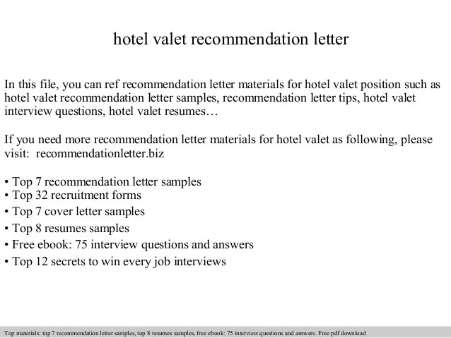 valet resume examples - Pinarkubkireklamowe