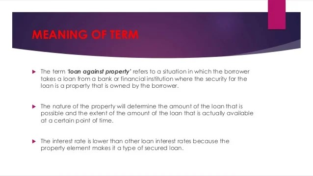 Housing finance india: SARFAESI Act, Arc and definitions
