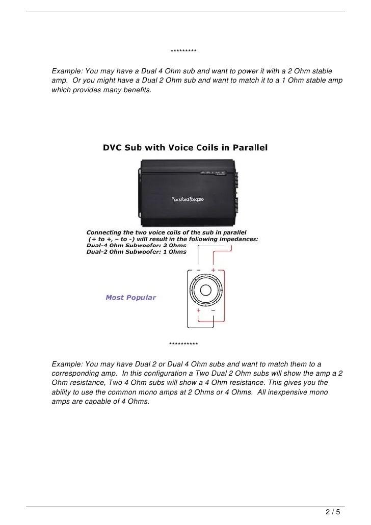 kicker 2 ohm subwoofer wiring diagram subwoofer speaker amp wiring