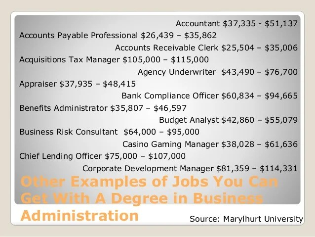 what jobs can you get with a business administration degree