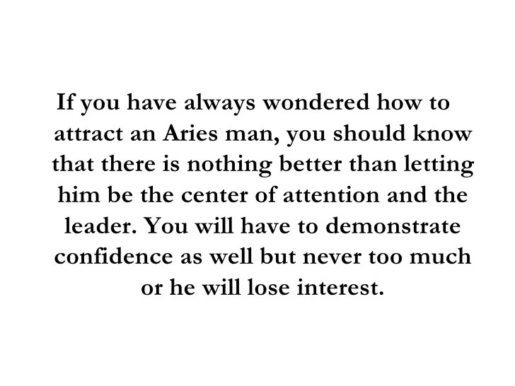 If an aries man likes you