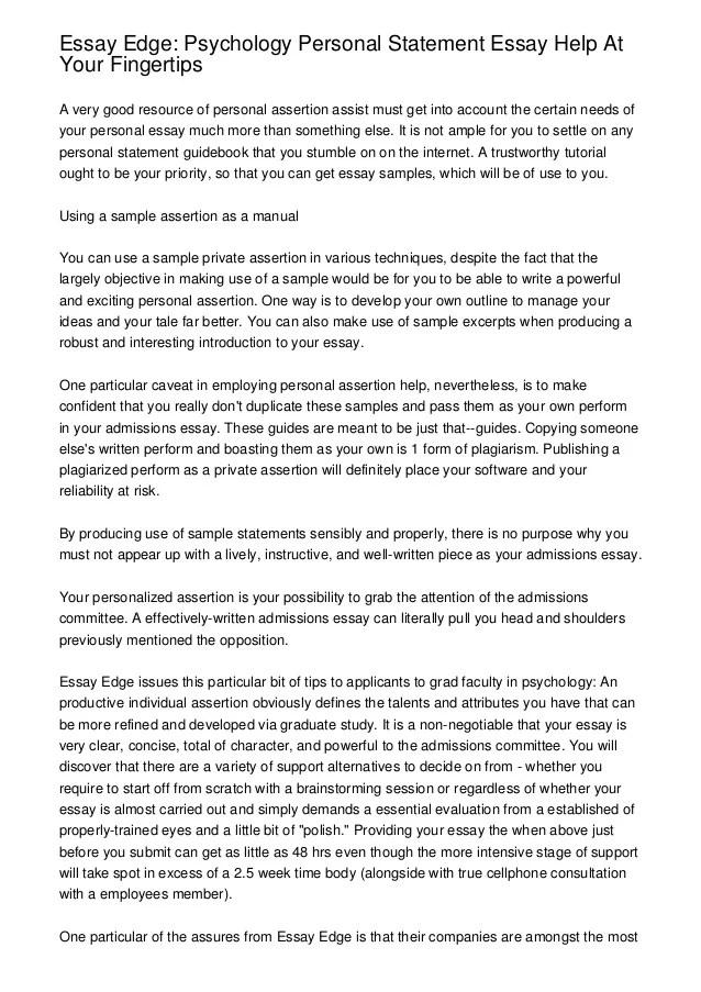 personal statement essay - Demireagdiffusion