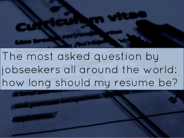 how long should a professional resume be - Jolivibramusic - my professional resume