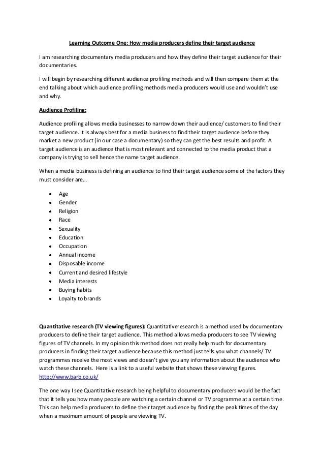 target audience profile template target audienceaudience profiling