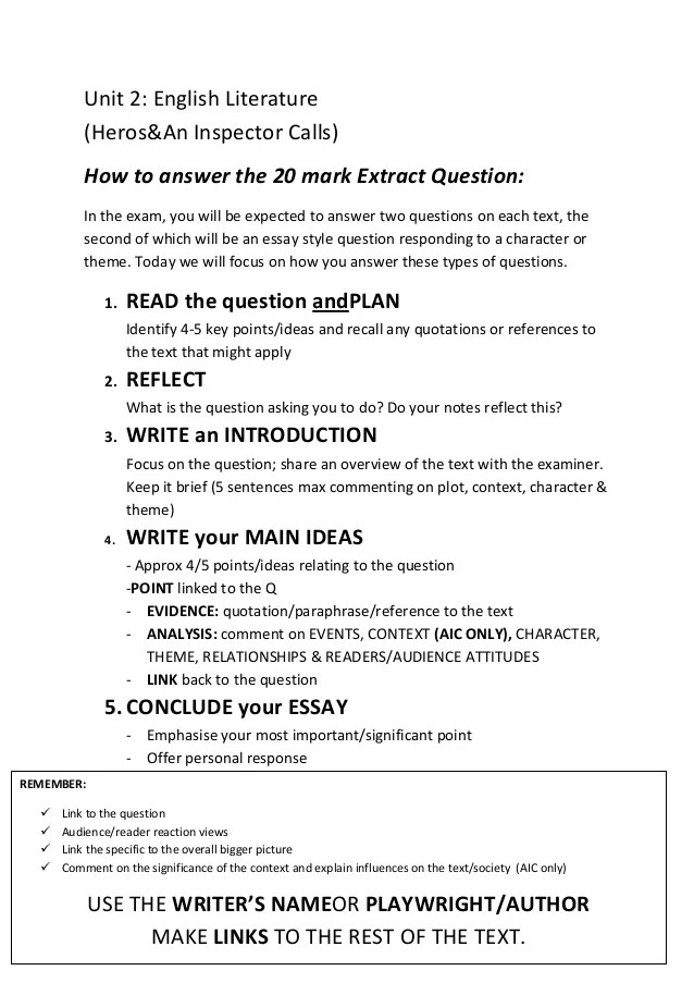 Question and answer format essay apa