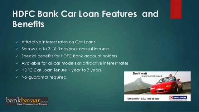 How to apply hdfc bank car loan online