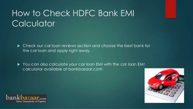 How to apply hdfc bank car loan online