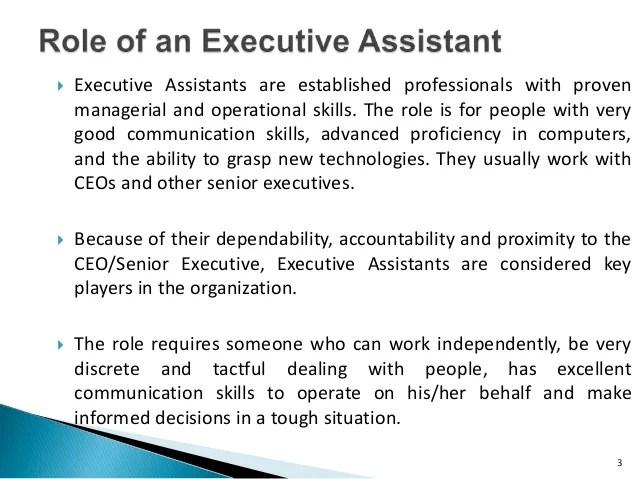 senior executive assistant job description - Onwebioinnovate - personal assistant job description
