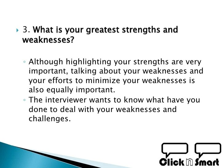 list of weaknesses for job interview