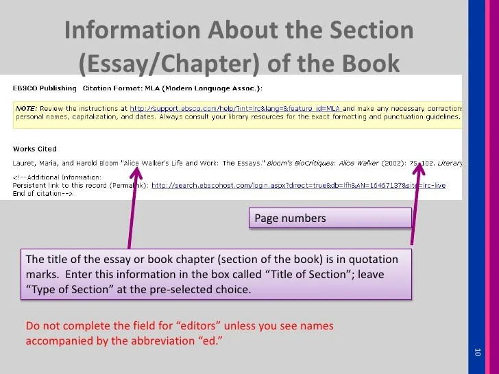How to refer to books in essays mla