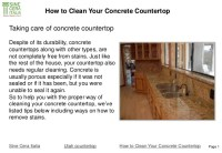 How to clean your concrete countertop