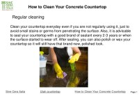Cleaning Concrete Countertops - Frasesdeconquista.com