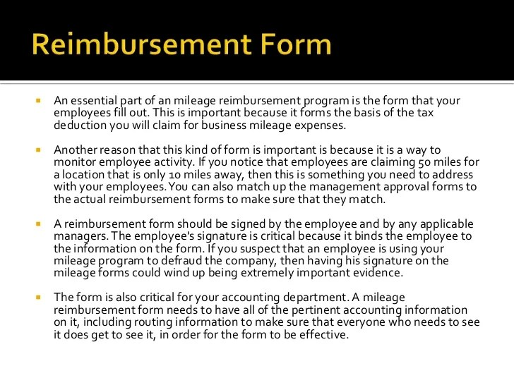 employee mileage reimbursement form - Goalgoodwinmetals - Mileage Reimbursement Forms