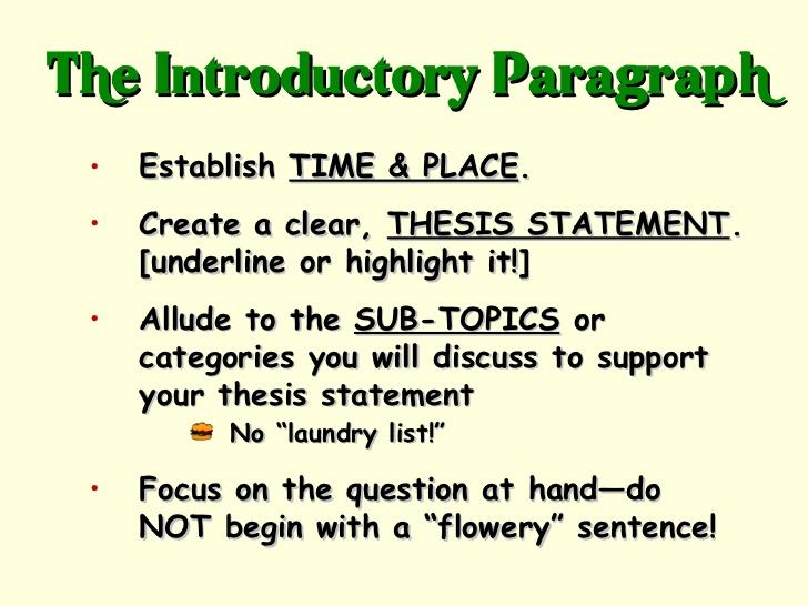 apush essay topics