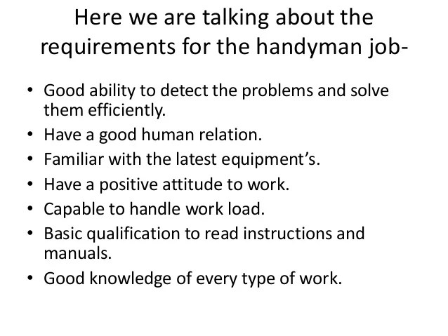handy man resume sample handyman resume oceanfronthomesforsaleus - Handyman Resume Samples