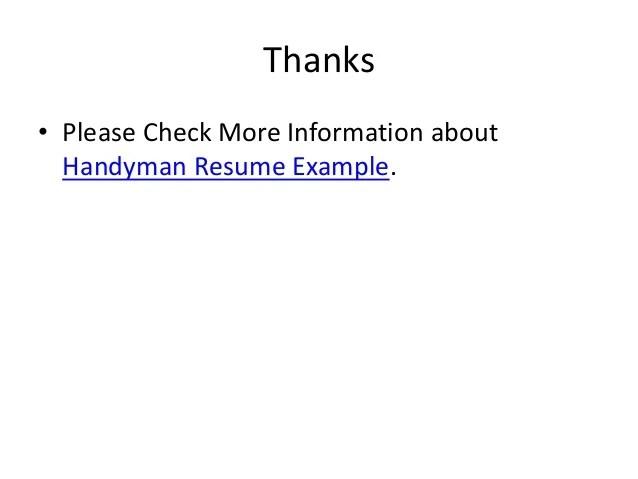 handyman resume examples - Goalgoodwinmetals - Handyman Resume Examples