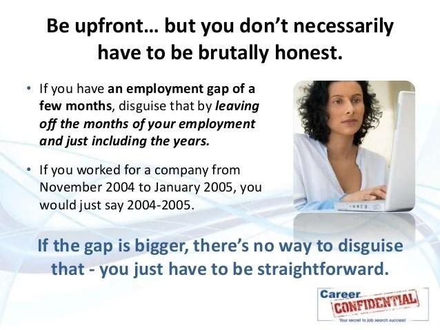 gaps in employment on resumes - Josemulinohouse - gaps on resumes