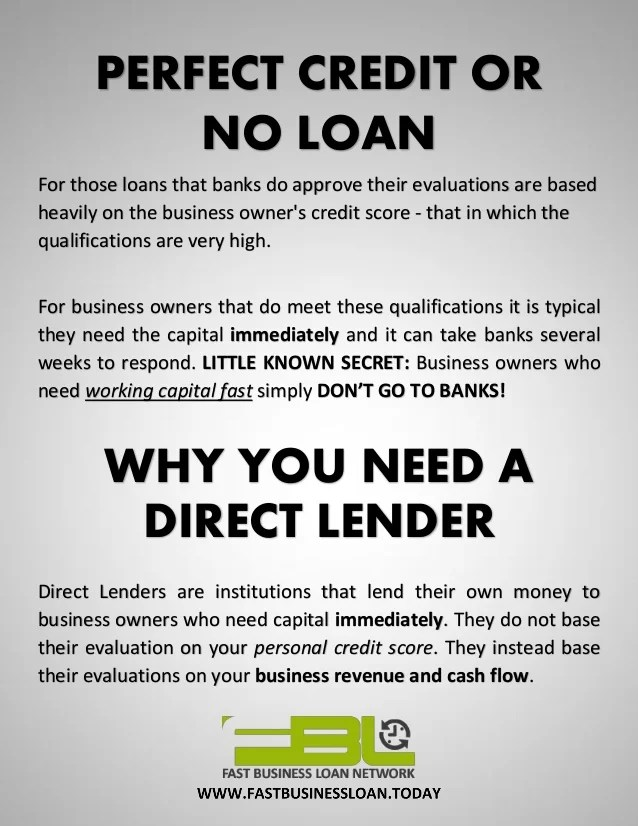 Merchant Cash Advance - How To Get A Business Loan With No Credit