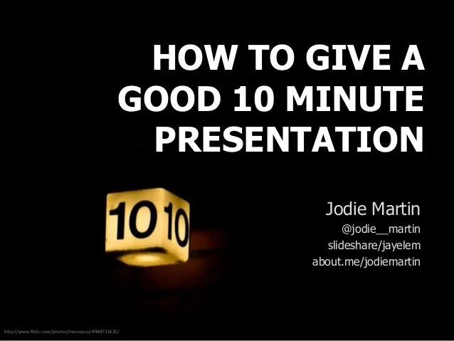 how many slides is a 10 minute presentation - Minimfagency
