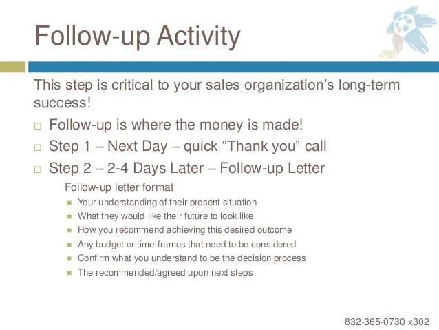 follow up sales call - Maggilocustdesign