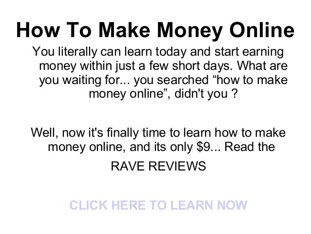 How to Make Money Online