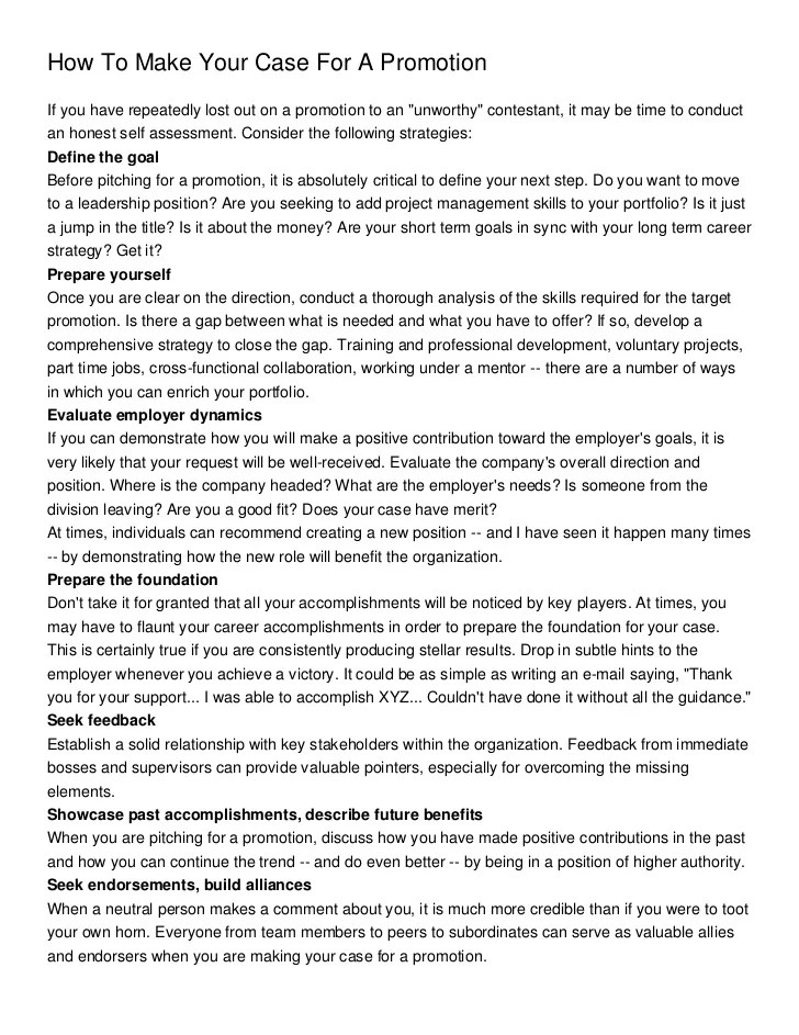 how to write a resume for a promotion - Josemulinohouse - sample resume for promotion