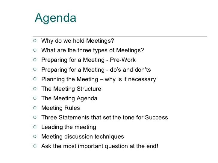 sample agenda for staff meeting - Jolivibramusic