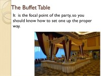 How to set up an elegant buffet table