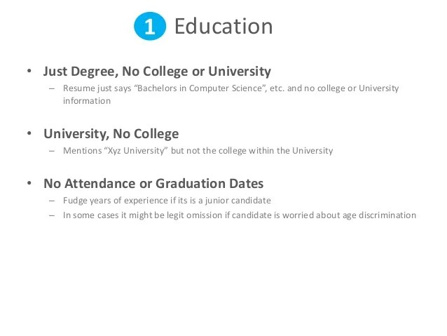 education on resume when no degree - Onwebioinnovate - resume degree