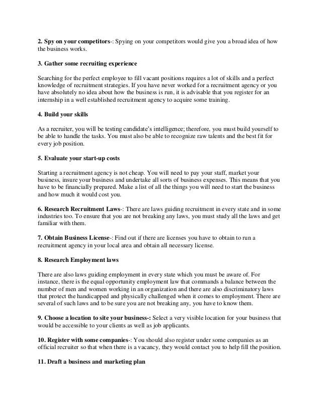 Sample business plan recruitment agency example good resume template sample business plan recruitment agency i need a sample business plan for a recruitment agency how flashek Images